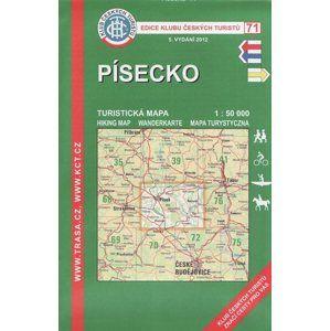 Písecko - mapa KČT č.71 - 1:50t