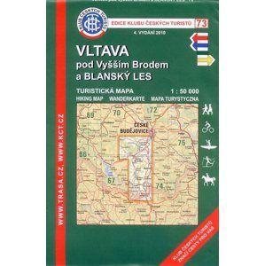 Vltava pod Vyšším Brodem a Blanský les - mapa KČT č.73 - 1:50t