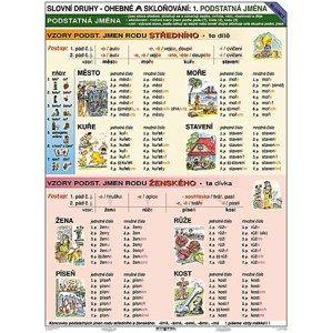 Vzory - Podstatná jména - tabulka A4