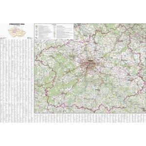 Nástěnná mapa Středočeský kraj 1:180 000 113x81cm