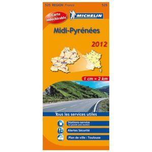 Francie - Midi-Pyrénées - mapa Michelin č.525 - 1:300 000