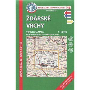 Žďárské vrchy - mapa KČT 48 1: 50 000