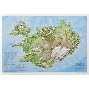 Island - plastická reliéfní mapa 66 x 46 cm