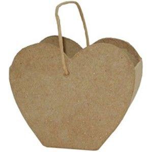 Kartonová dárková taštička srdíčko 4 x 9 x 7,5cm