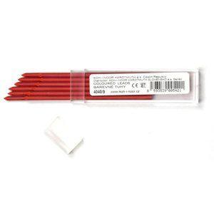 Koh-i-noor Tuhy do Scala pastelek - barva červená (3,2mm x 90mm), 12 kusů