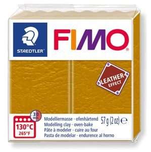 FIMO LEATHER efekt - okrová