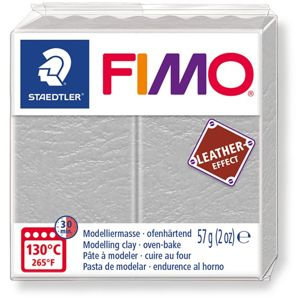 FIMO LEATHER efekt - holubí šedá