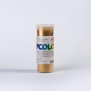 Efcolor - Smaltovací prášek , 10ml - metalický  zlatý
