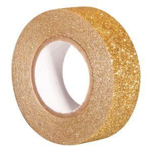 Samolepicí papírová washi páska Heyda - Perleťová zlatá