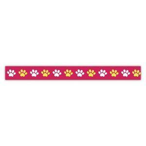 Samolepicí papírová washi páska Heyda - Barevné tlapky