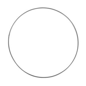 Kovový kruh, průměr 20 cm - stříbrný