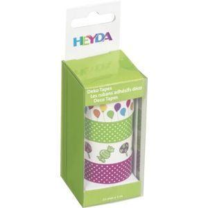 Sada samolepicích papírových washi pásek Heyda - Balónky