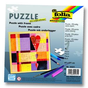 Puzzle s rámečkem 21 x 21 cm