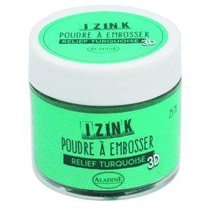 Embosovací prášek Aladine, IZINK - Turquiose, 25 ml