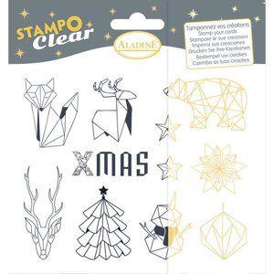 Gelová razítka Aladine - Origami Vánoce