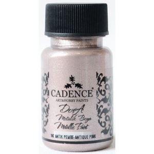 Akrylová barva Cadence DORA metalic, 50 ml - světlá starorůžová
