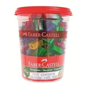 Ořezávátko Faber-Castell jednoduché, plast - mix barev
