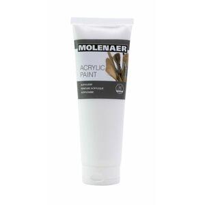 Akrylová barva Molenaer 250 ml - bílá