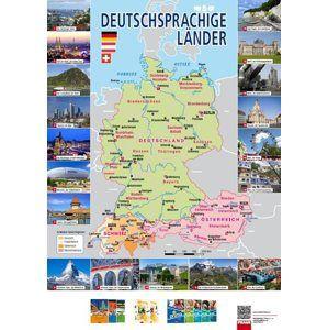 Mapa – Deutschsprachige Länder