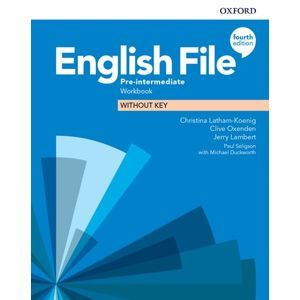 English File 4th Edition Pre-Intermediate Workbook without Answer Key