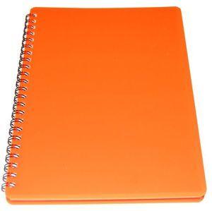 BOBO Plastic blok Neon A5 linka 60 listů - oranžový