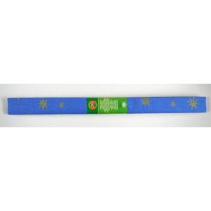 Krepový papír - modrý + zlatá hvězda