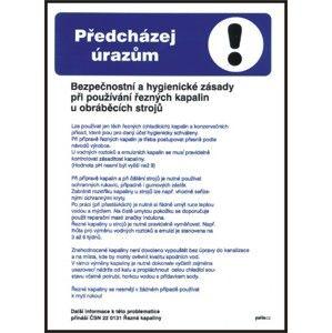 Bezpečnost a hygienické zásady při používání řezných kapalin u obráběcích strojů - A3/ plast