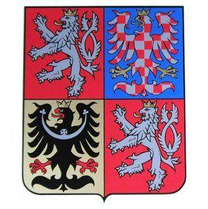 Státní znak ČR 420×350 mm, plexi 2 mm čiré