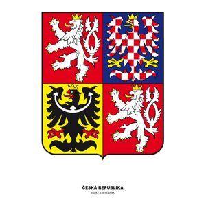 Státní znak ČR 300 x 400 mm, papír