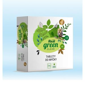 Real green clean - tablety do myčky - 40 ks