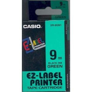 Samolepicí páska 9 mm zelená + černý tisk