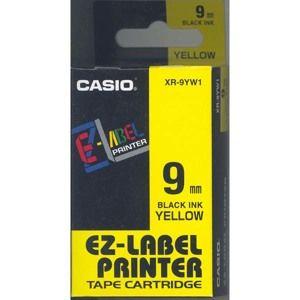 Samolepicí páska 9 mm  žlutá + černý tisk