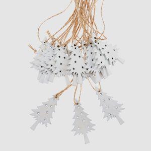 Závěsné vánoční ozdoby 18 ks - Stromečky