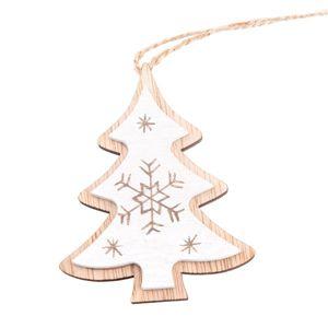 Závěsný dřevěný stromeček - bílý