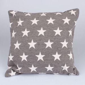 Gobelínový povlak na polštář Hvězdy - tmavě šedé