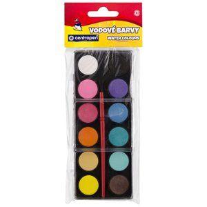Centropen Vodové barvy 22 mm - 12 barev