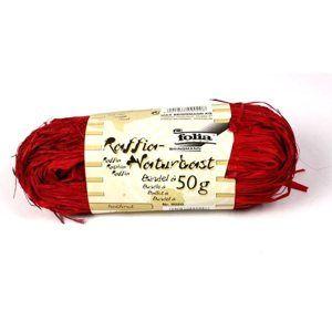 Přírodní lýko - 50 g - barva červená