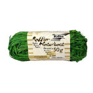 Přírodní lýko - 50 g - barva zelená