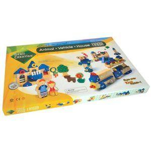 Genii Creation COMBO - kreativní dřevěná stavebnice /132 dílků/