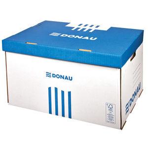 Donau Archivační krabice s výklopným víkem - bílomodrá