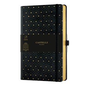 Castelli Zápisník linkovaný, 13 × 21 cm, C&G Honey Gold