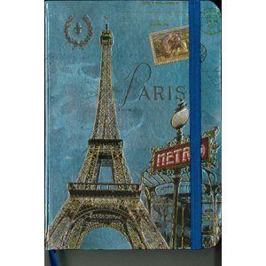 Zápisník A5 s gumičkou linkovaný - Paříž