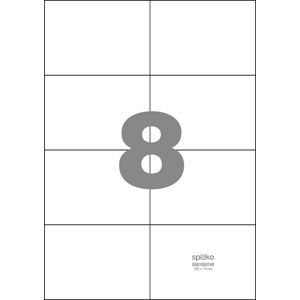 Spoko Samolepicí etikety A4 100 listů - 105 × 74 mm