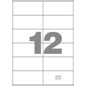 Spoko Samolepicí etikety A4 100 listů - 105 × 48 mm