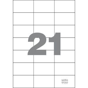 Spoko Samolepicí etikety A4 100 listů - 70 × 42,3 mm