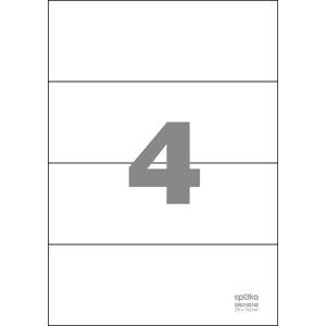 Spoko Samolepicí etikety A4 100 listů - 210 × 74,2 mm