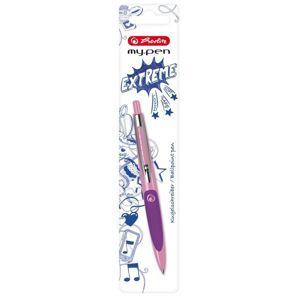 Herlitz my.pen Kuličkové pero - růžové/fialové, blistr