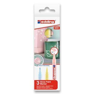 Edding 751 Lakový popisovač - sada 3 pastelových barev