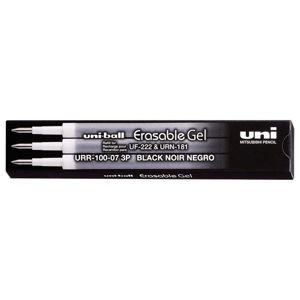 Náhradní náplň pro gumovací pero UNI 0,7 mm, 3 ks - černá