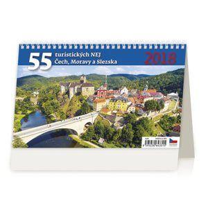 Kalendář stolní 2018 - 55 turistickýh nej